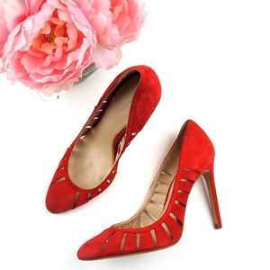 Zara Woman | Red Suede Pumps Size 39
